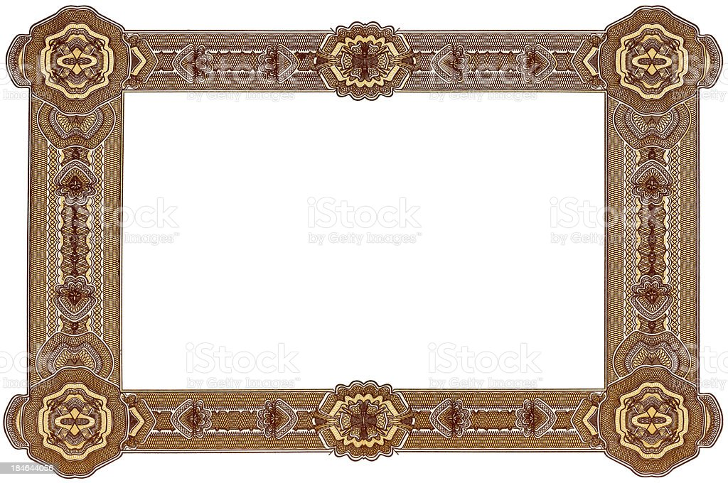 Blank Certificate Frame Stock Photo More Pictures Of Ancient Istock