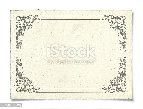 Blank Certificate isolated on background