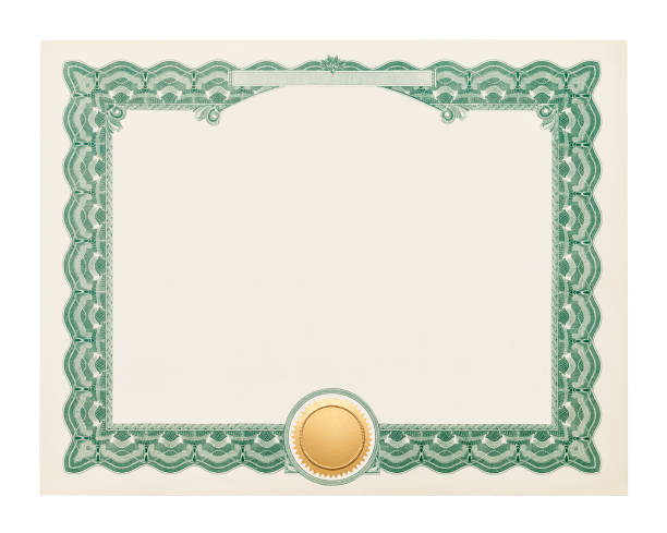 blank certificate - certificate stock photos and pictures