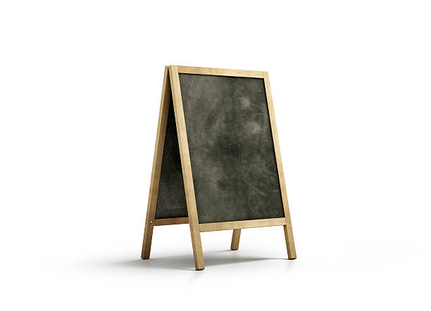 Blank chalk board street stand mockup, isolated - Photo