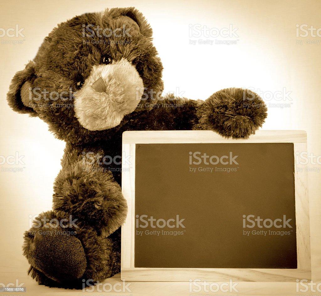 Blank Chalkboard Bear stock photo