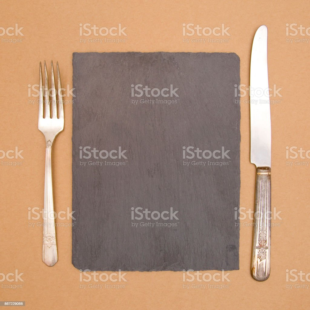 A Blank Chalkboard - Perfect for a Dinner Menu stock photo