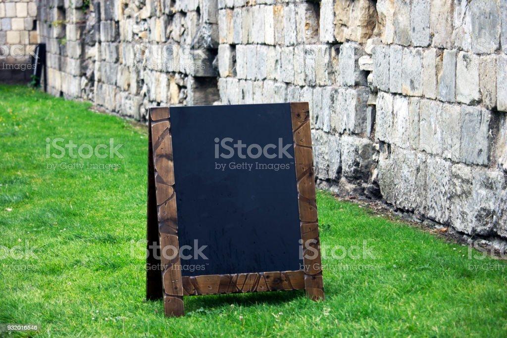 Blank Chalkboard/Blackboard Sign stock photo