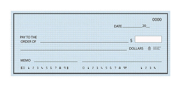 blank check - blank check stock photos and pictures