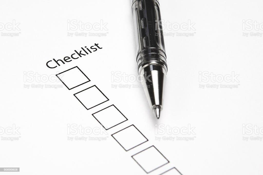 Blank Checklist royalty-free stock photo
