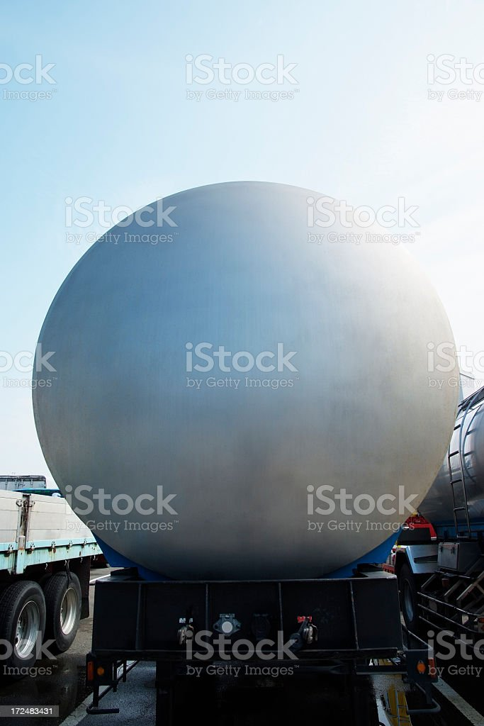 Blank chemical cargo container against blue sky royalty-free stock photo