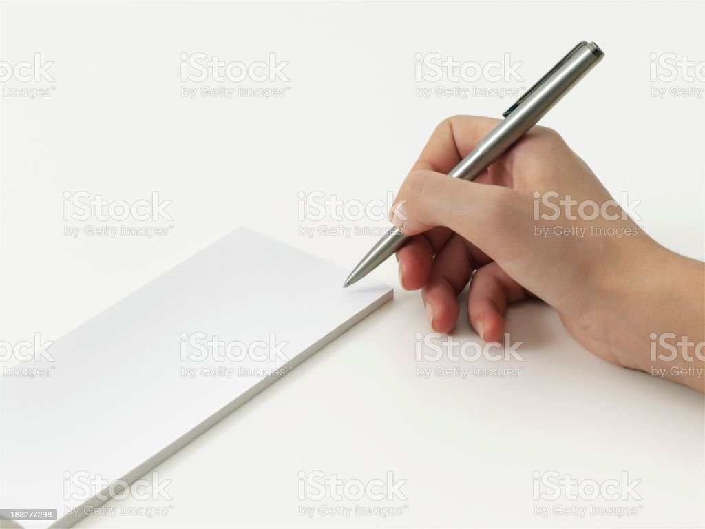 blank cheque book stock photo