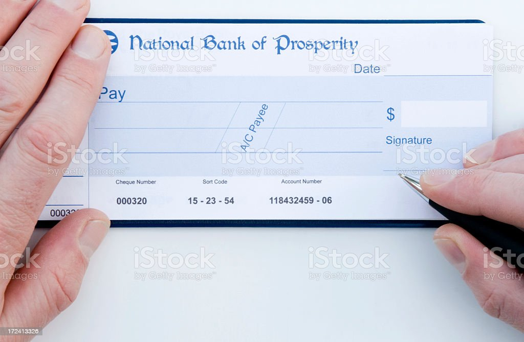 Blank Cheque - Dollars royalty-free stock photo