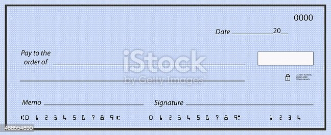 Blank Cheque With Fake Numbers stock photo 468554890 – Blank Cheque Template