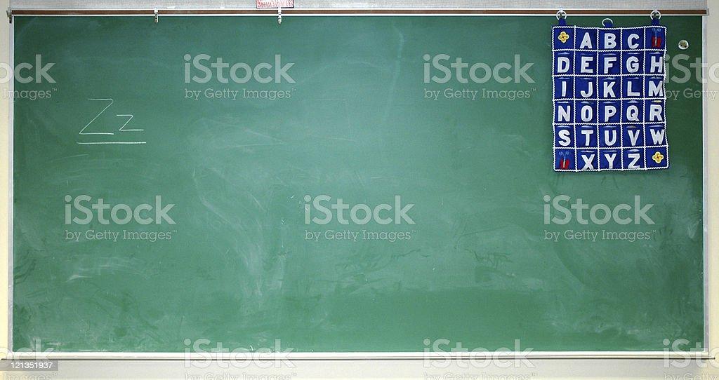 Blank Childrens Chalk Board royalty-free stock photo
