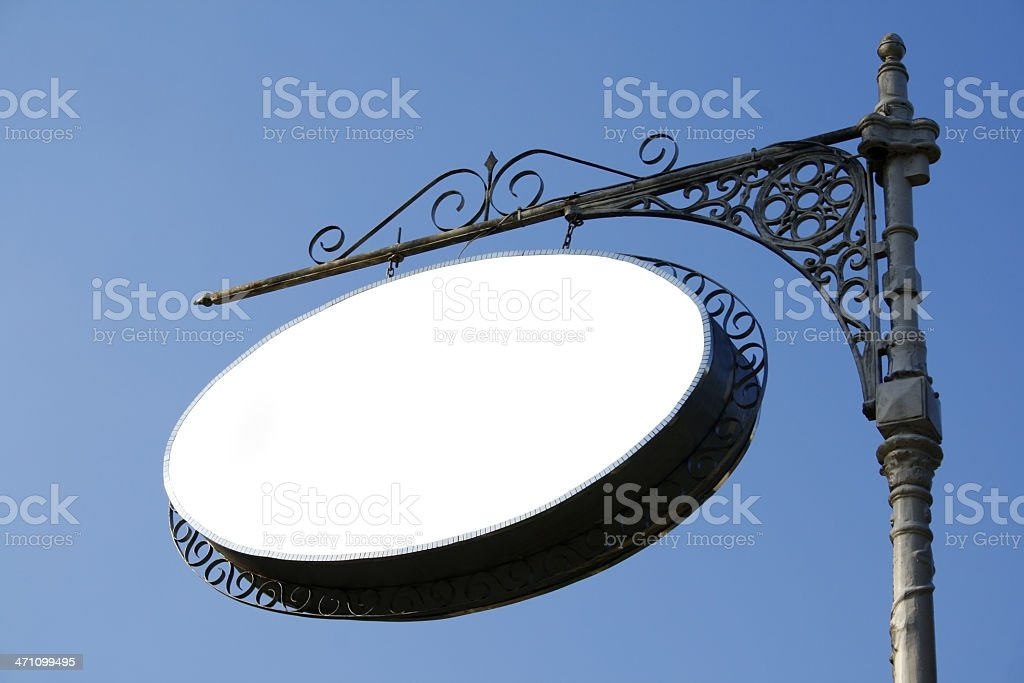 Blank classical board royalty-free stock photo