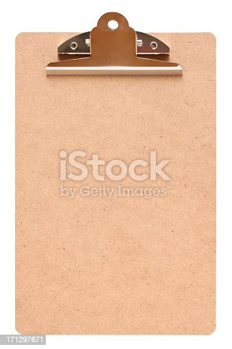 524051315 istock photo Blank clipboard (Clipping path!) isolated on white background 171297671