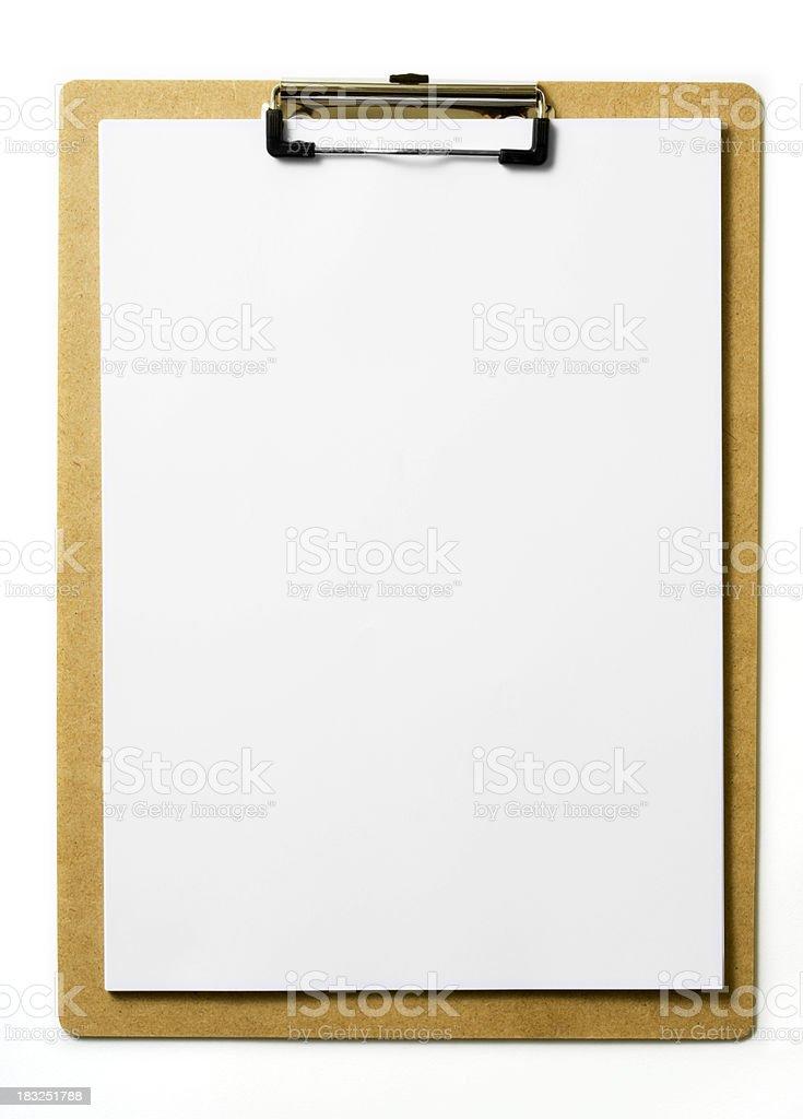 Blank Clipboard stock photo