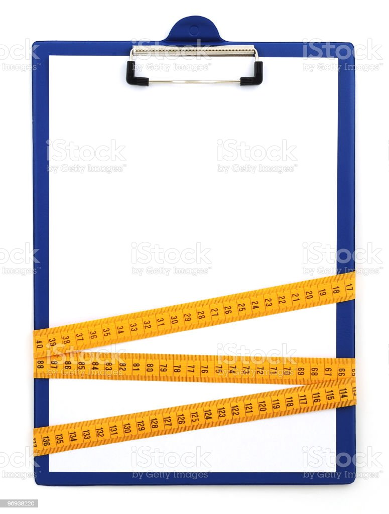 Blank clipboard royalty-free stock photo