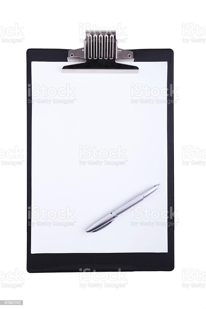 Blank clipboard royalty-free stock photo