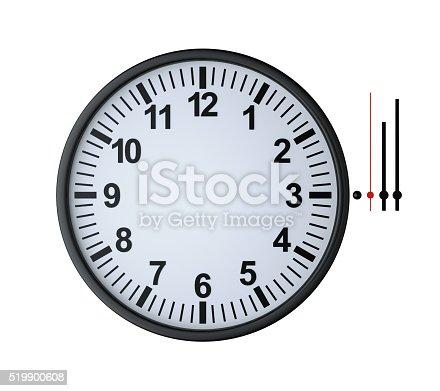 istock blank clock face 519900608