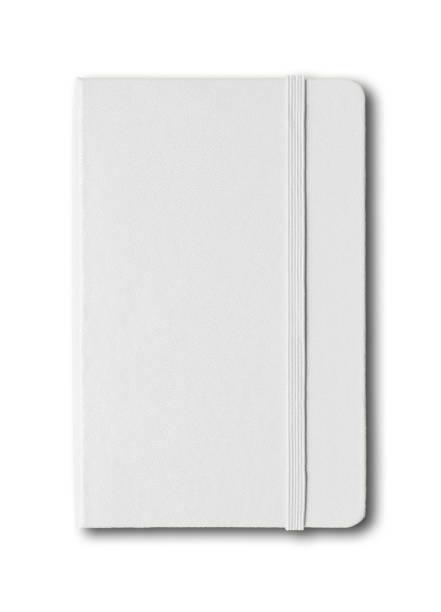 pusty zamknięty notatnik odizolowany na białym - notes zdjęcia i obrazy z banku zdjęć