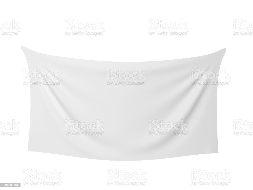 Blank cloth banner - Стоковые фото Бизнес роялти-фри