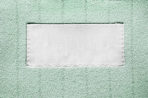 Blank clothes label stok fotoğrafı