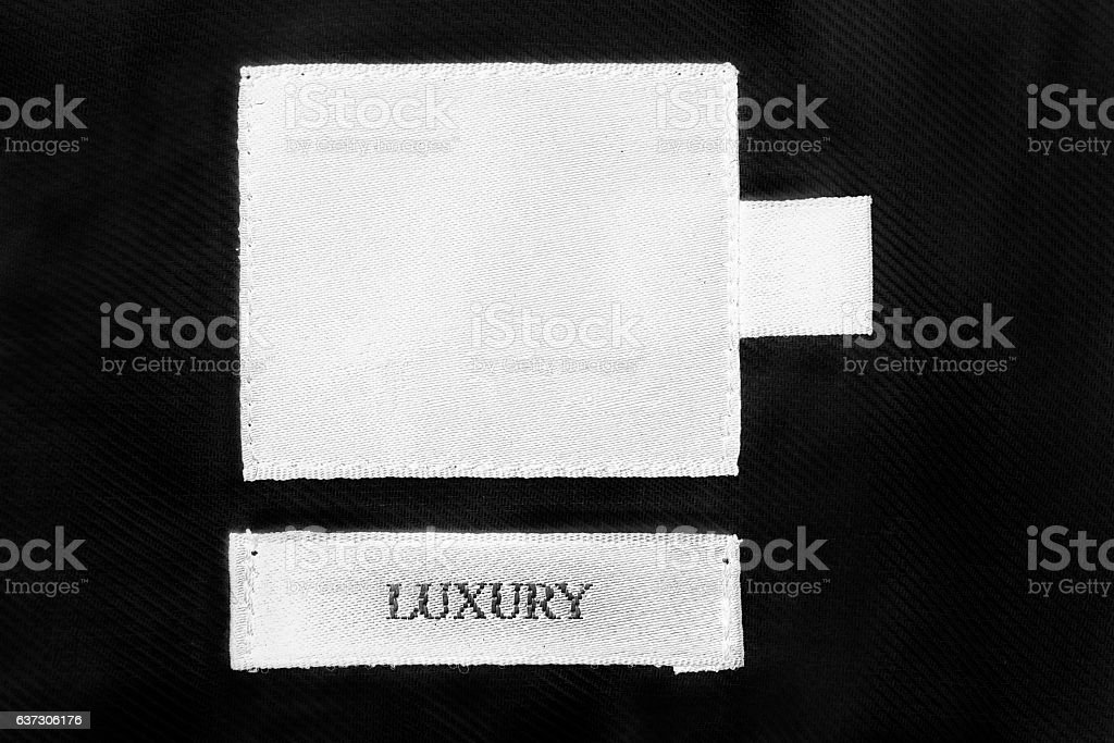 Blank clothes label stock photo