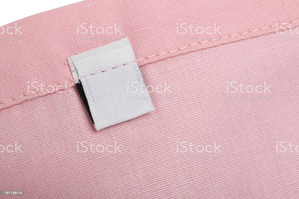 Blank Clothing Label stock photo