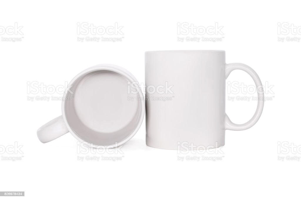 Blank Coffee Mug Isolated On White Background Template Of Drink Cup ...