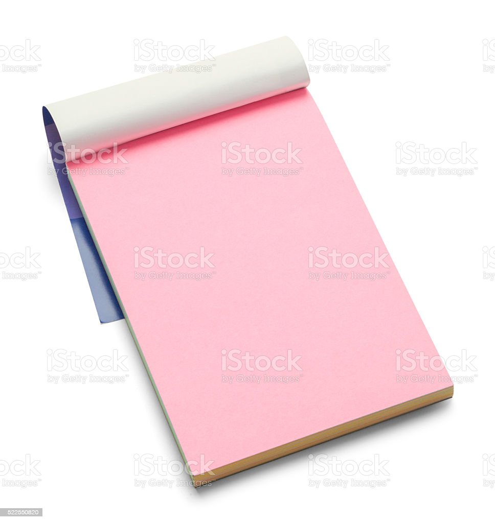 Blank Color Notepad stock photo