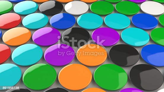 896667624 istock photo Blank colorful badges on white background 891956138