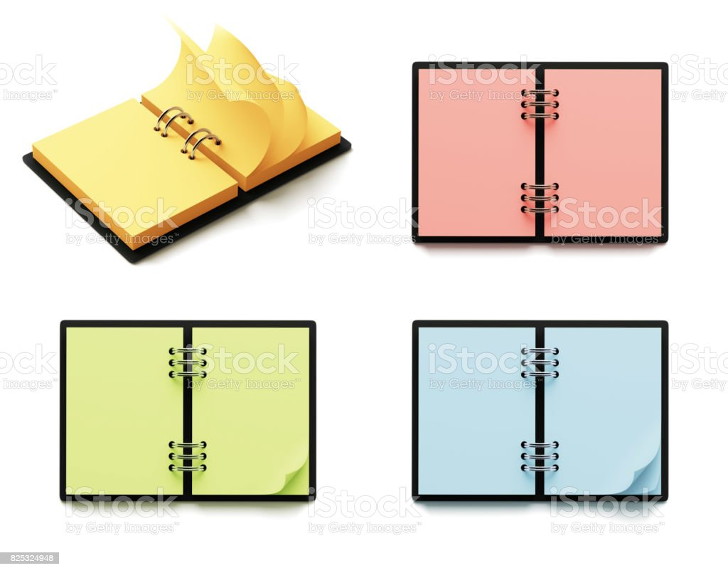 Blank Colorful Paper Notepad stock photo