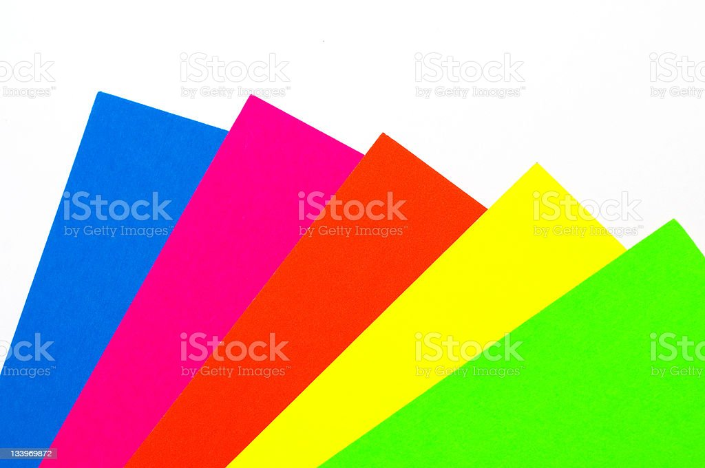 Blank colorful paper sheets royalty-free stock photo