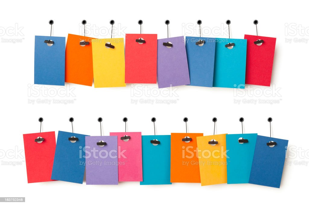 Blank colourful label tags 8-9 royalty-free stock photo
