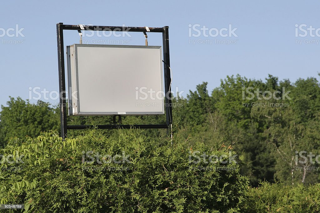 Blank commercial sign royalty-free stock photo