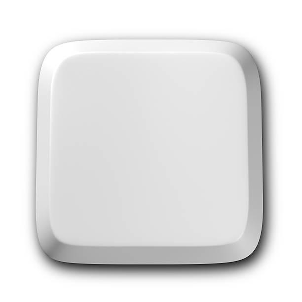 Teclado de computador em branco botão - foto de acervo