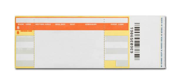 blank concert ticket - biglietto del cinema foto e immagini stock