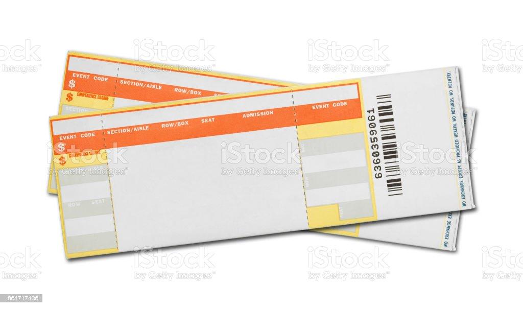 Blank Concert Tickets stock photo
