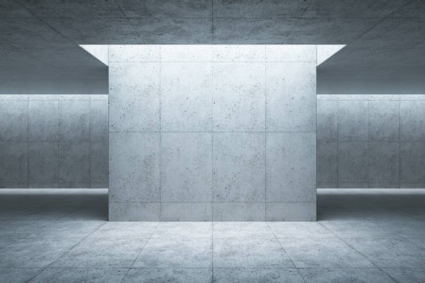 blank concrete space interior, 3d rendering blank concrete space interior, 3d rendering showroom stock pictures, royalty-free photos & images