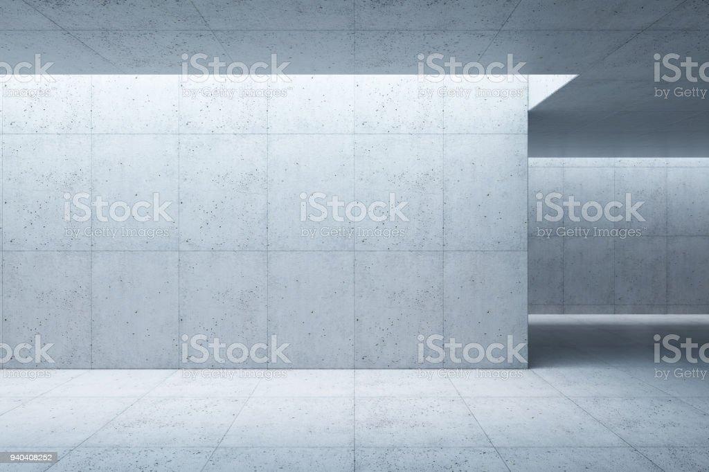 konkrete Leerzeichen Interieur, 3D-Rendering Lizenzfreies stock-foto