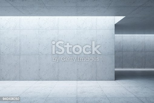 istock blank concrete space interior, 3d rendering 940408252