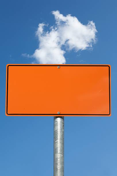 royalty free blank orange construction sign pictures images and