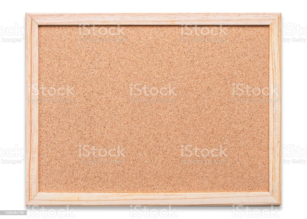 Blank Cork Board Mock Up With Corkboard Texture Background With