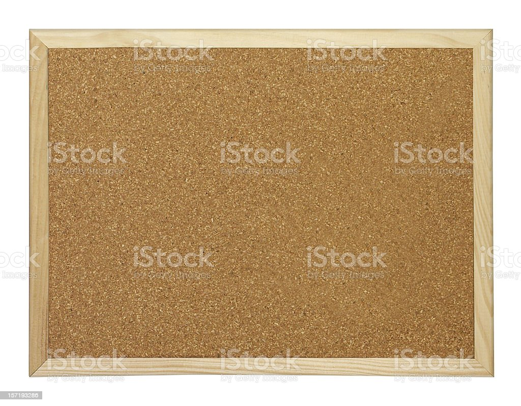 Blank Cork board with wooden frame royalty-free stock photo
