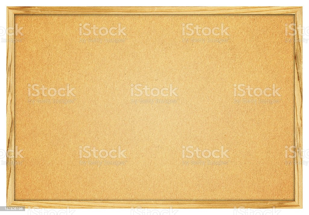 Blank Corkboard (Clipping path) isolated on White background royalty-free stock photo
