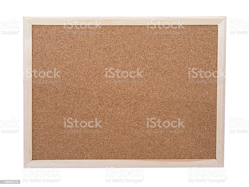 Blank corkboard royalty-free stock photo