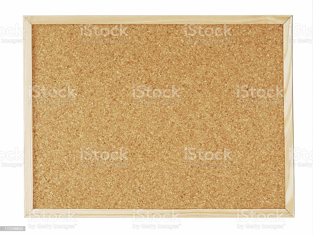 Blank Corkboard royalty-free stock photo