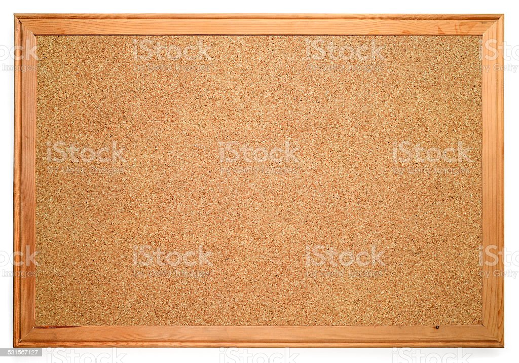 Blank corkboard stock photo