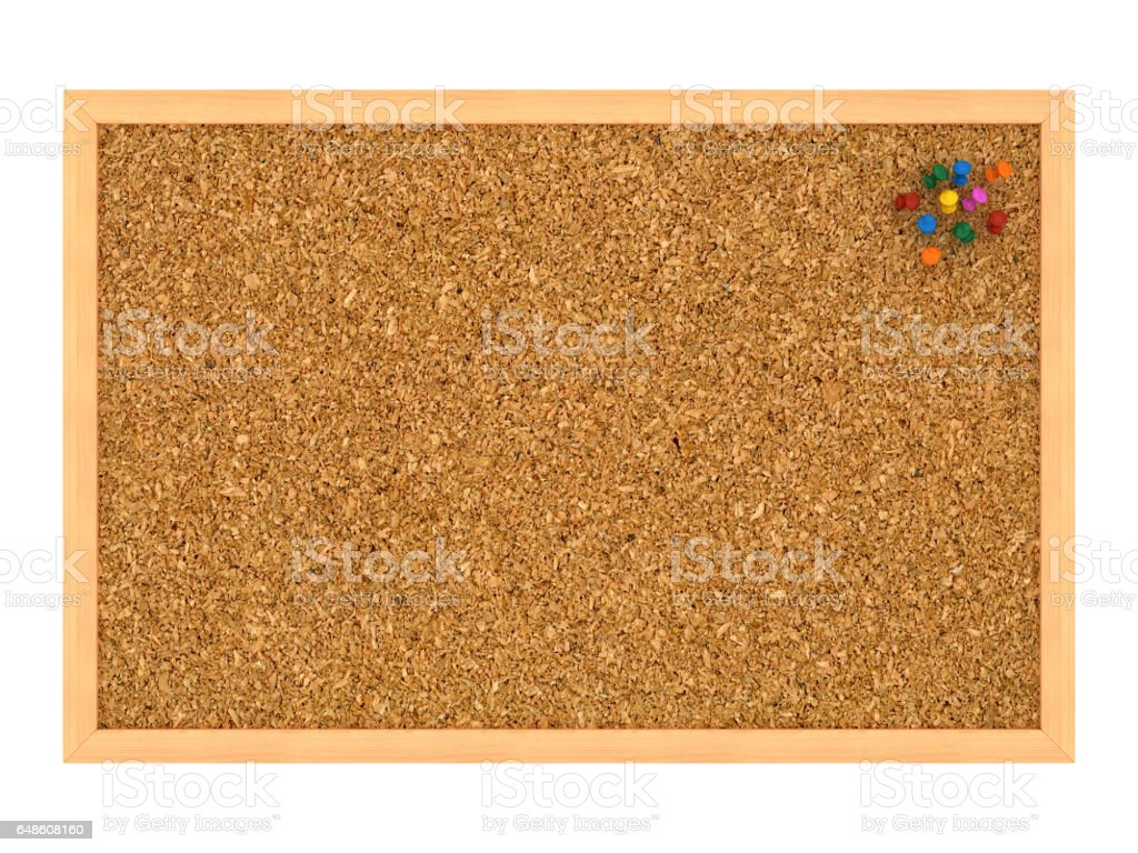 Blank Corkboard with Wood Frame and Straight Pins - High Quality Cork...