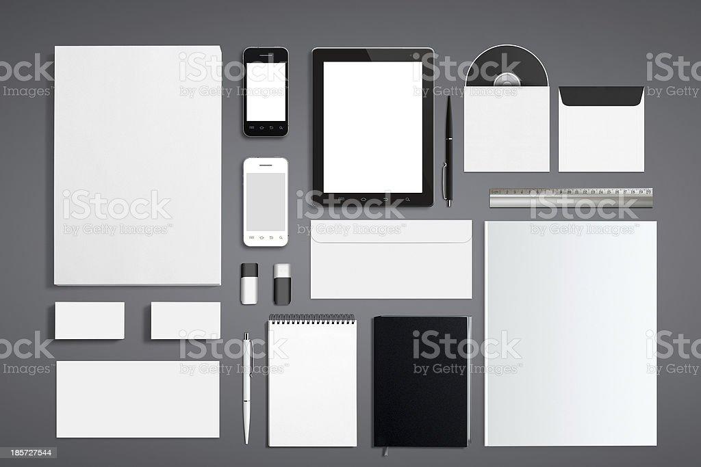 Blank Corporate ID Set royalty-free stock photo