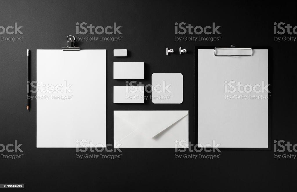 Blank corporate identity royalty-free stock photo