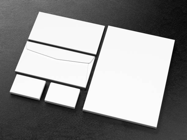 Blank corporate identity template stock photo