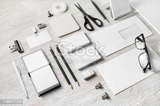istock Blank corporate stationery 1160427220